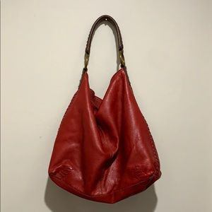 🍀Lucky Brand🍀 Red Leather Slouchy Hobo Bag